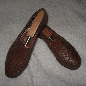 Cole Haan Woven Loafers - Womans - 10 - Brown